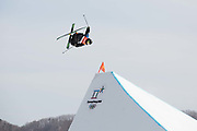 Henrik Harlaut, Sweden, at thePyeongchang 2018 Winter Olympics men's freestyle ski slopestyle qualifications on February 18th 2017, at the Phoenix Snow Park inPyeongchang-gun, South Korea.
