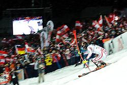 24.01.2012, Planai, Schladming, AUT, FIS Weltcup Ski Alpin, Herren, Slalom 2. Durchgang, im Bild Mario Matt (AUT) // Mario Matt of Austria  during the second run of the FIS Alpine Skiing World Cup mens slalom race, Schladming, Austria on 2012/01/24. EXPA Pictures © 2012, PhotoCredit: EXPA/ Sandro Zangrando