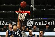 Basketball: Deutschland, 1. Bundesliga, Hamburg Towers - HAKRO Merlins Crailsheim, Hamburg, 10.01.2021<br /> Kameron Taylor (Towers, M.) - Maurice Stuckes (Merlins, l.)<br /> © Torsten Helmke