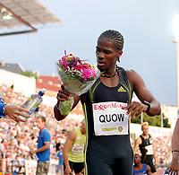 Friidrett , 3. juli 2009 , Golden League , Bislett Games , <br /> <br /> Renny Quow winner 400 metres