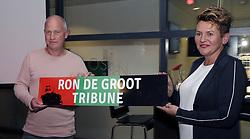 (L-R) Ron de Groot, mevrouw de Groot during the Jupiler League match between NEC Nijmegen and MVV Maastricht at the Goffert stadium on September 29, 2017 in Nijmegen, The Netherlands