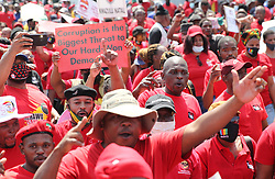 South Africa - Durban - 07 October - 2020 - Durban COSATU march departed from Corruies fountain stadium, caused major traffic in the CBD as members marched followed by a large motorcade<br /> Picture: Doctor Ngcobo/African News Agency(ANA)