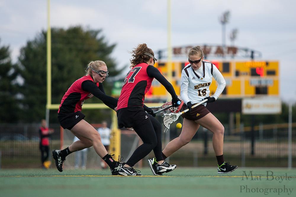 Rowan Univeristy Women's Lacrosse vs Ursinus University in Glassboro, NJ on Thursday April 24, 2011. (photo / Mat Boyle)