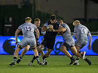 Rugby Union - 2020 / 2021 Gallagher Premiership - Newcastle Falcons vs Sale - Kingston Park<br /> <br /> Greg Peterson of Newcastle Falcons is tackled by Valerey Morozov of Sale Sharks<br /> <br /> COLORSPORT/BRUCE WHITE