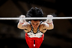 October 29, 2018 - Doha, Qatar - Kenzo Shirai of Japan   during  High Bar, Team final for Men at the Aspire Dome in Doha, Qatar, Artistic FIG Gymnastics World Championships on October 29, 2018. (Credit Image: © Ulrik Pedersen/NurPhoto via ZUMA Press)