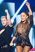 Ariana Grande performing at the iHeartRadio Music Festival in Las Vegas, Nevada on Sepembter 20, 2014.