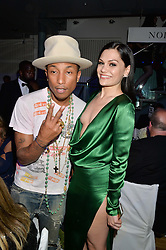 PHARRELL WILLIAMS and JESSIE J at the GQ Men Of The Year 2014 Awards in association with Hugo Boss held at The Royal Opera House, London on 2nd September 2014.