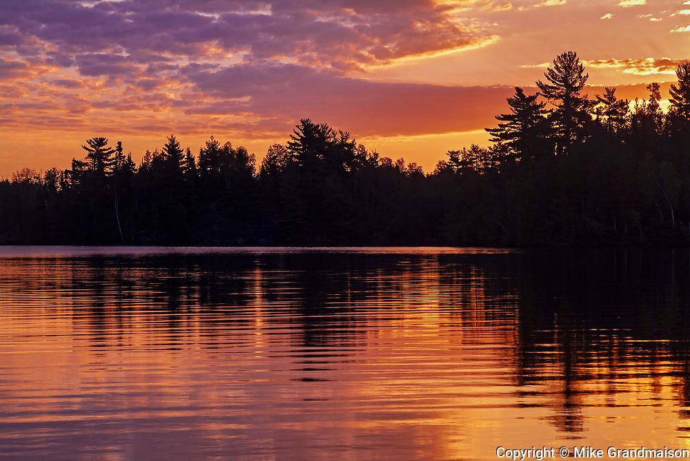Crow Lake at sunset<br />Crow Lake<br />Ontario<br />Canada