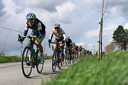 Tayler Wiles (Orica AIS) at Dwars door de Westhoek 2016. A 127km road race starting and finishing in Boezinge, Belgium on 24th April 2016.