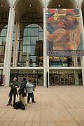 Photographers outside the pavillion at Lincon Center.