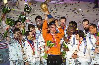 Håndball<br /> Frankrike v Qatar<br /> Finale VM 2015<br /> 01.02.2015<br /> Foto: imago/Digitalsport<br /> NORWAY ONLY<br /> <br /> Frankreich ist Weltmeister Jubel Thierry Omeyer (Frankreich, TW, No.16)