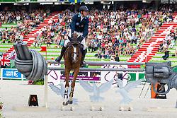 Henrik Von Eckermann, (SWE), Gotha FRH - World Champions, - Second Round Team Competition - Alltech FEI World Equestrian Games™ 2014 - Normandy, France.<br /> © Hippo Foto Team - Leanjo De Koster<br /> 25/06/14