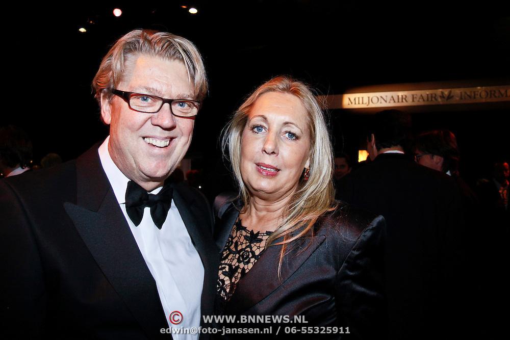 NLD/Amsterdam/20101209 - VIP avond Miljonairfair 2010, Robert Kranenborg en partner Marjan Nusselder