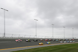 February 10, 2019 - Daytona, FL, U.S. - DAYTONA, FL - FEBRUARY 10: Paul Menard, driver of the #21 Motorcraft/Quick Lane Ford, leads the field during the Advance Auto Parts Clash on February 10, 2019 at Daytona International Speedway in Daytona Beach, FL. (Photo by David Rosenblum/Icon Sportswire) (Credit Image: © David Rosenblum/Icon SMI via ZUMA Press)