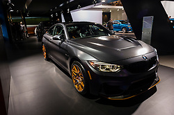 NEW YORK, USA - MARCH 23, 2016: BMW M4 GTS coupe on display during the New York International Auto Show at the Jacob Javits Center.