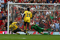 Tomassz Kuszczak Saves penalty from Arsenal's Gilberto<br />Manchester United 2006/07<br />Manchester United V Arsenal 17/09/06<br />The Premier League<br />Photo Robin Parker Fotosports International