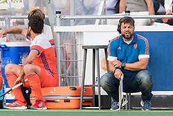 (R) coach Max Caldas of The Netherlands during the Champions Trophy match between the Netherlands and France on the fields of G.H.C. Rapid on June 15th, 2018 in Gorinchem, The Netherlands.