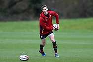 Liam Williams of Wales in action during the Wales Rugby team training at the Vale Resort, Hensol near Cardiff, South Wales on Wednesday 8th March 2017. The team are preparing for the the RBS Six nations match against Ireland.  pic by  Andrew Orchard, Andrew Orchard sports photography.