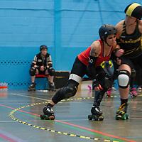 Glasgow Roller Derby take on London Rockin' Rollers at University of Salford Sports Hall, Salford, United Kingdom, 2016-06-16