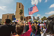 """Hundreds of Los Angeles """"Dreamers"""" march in support of the DACA act which will be overturned by Trump in six months. The march started on Cesar Chavez Ave and mades its way to LA City Hall and then the US Federal building in downtown LA."""