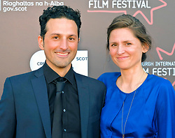 Edinburgh International Film Festival, Saturday, 24 June 2018<br /> <br /> STEEL COUNTRY (WORLD PREMIERE)<br /> <br /> Pictured:  Director of Photography Marcel Zyskind with his wife<br /> <br /> (c) Alex Todd | Edinburgh Elite media