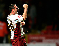 Photo: Tom Dulat/Sportsbeat Images.<br /> <br /> Charlton Athletic v Burnley. Coca Cola Championship. 01/12/2007.<br /> <br /> Burnley's David Unsworth celebrates won game.
