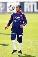 FOOTBALL - MISCS - WORLD CUP 2010 - TIGNES (FRANCE) - FRANCE TEAM TRAINING - 20/05/2010 - PHOTO ERIC BRETAGNON / DPPI - MARC PLANUS