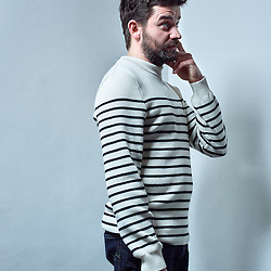 Paris, France. February 10, 2016. Actor Pascal Cervo posing at the Finnish Institute in Paris. Photo: Antoine Doyen