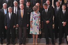 King Juan Carlos and Queen Sofia - Atletico de Madrid C.F.
