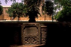 monument engraved with Travis in San Antonio Texas