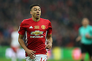 Jesse Lingard of Manchester Utd looks on.EFL Cup Final 2017, Manchester Utd v Southampton at Wembley Stadium in London on Sunday 26th February 2017. pic by Andrew Orchard, Andrew Orchard sports photography.
