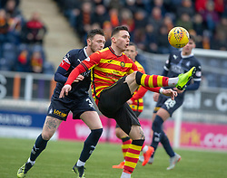 Falkirk's Jordan McGhee and Partick Thistle's Miles Storey. Falkirk 1 v 1 Partick Thistle, Scottish Championship game played 16/3/2019 at The Falkirk Stadium.