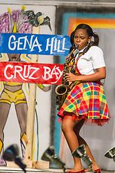 Talent Segment.  Contestant #3 Shanell Harney.  St. John Festival Queen: 2015.  Winston W. Wells Ball Field.  St. John, Virgin Islands.  21 June 2015.  © Aisha-Zakiya Boyd