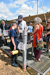 Latitude Festival, Henham Park, Suffolk, UK July 2019. Filling water bottles