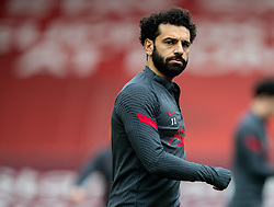 LIVERPOOL, ENGLAND - Sunday, March 7, 2021: Liverpool's Mohamed Salah during the pre-match warm-up before the FA Premier League match between Liverpool FC and Fulham FC at Anfield. Fulham won 1-0 extending Liverpool's run to six consecutive home defeats. (Pic by David Rawcliffe/Propaganda)