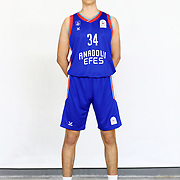 Anadolu Efes's Civan Catak during the 2020-2021 Garanti BBVA BGL Media Day at the Anadolu Efes Sports Hall on February 02, 2021 in İstanbul, Turkey. Photo by Aykut AKICI/TURKPIX
