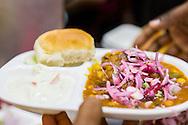 Chana masala at Elco Veg Restaurant on Hill Road in Bandra West, Mumbai, India