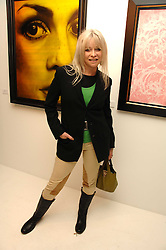 JO WOOD at an exhibition of artist Paul Karslake's work entitled Ideas & Idols, held at Scream, 34 Bruton Street, London W1 on 21st February 2008.<br /><br />NON EXCLUSIVE - WORLD RIGHTS