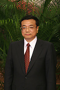 Li Keqiang, newly appointed member of the Chinese Communist Party Politburo Standing Committee, is introduced in the Greal Hall of the People in Beijing, China, on Monday, Oct. 22, 2007. China's ruling Communist Party named four new members to its top executive body today, making them potential successors to President Hu Jintao, who was elected to a second five-year term as party chief and head of the military.