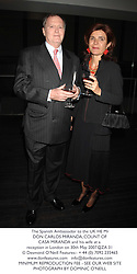 The Spanish Ambassador to the UK HE Mr DON CARLOS MIRANDA, COUNT OF CASA MIRANDA and his wife at a reception in London on 30th May 2007.QZA 31<br /><br />NON EXCLUSIVE - WORLD RIGHTS