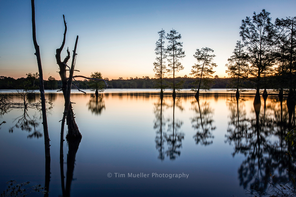 The sun rises over Toledo Bend Lake near San Patricio Scenic overlook located off Hwy. 191 west of Zwolle, LA.