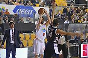 DESCRIZIONE : Roma LNP A2 2015-16 Acea Virtus Roma Angelico Biella<br /> GIOCATORE : Guido Meini<br /> CATEGORIA : tiro<br /> SQUADRA : Acea Virtus Roma<br /> EVENTO : Campionato LNP A2 2015-2016<br /> GARA : Acea Virtus Roma Angelico Biella<br /> DATA : 15/11/2015<br /> SPORT : Pallacanestro <br /> AUTORE : Agenzia Ciamillo-Castoria/G.Masi<br /> Galleria : LNP A2 2015-2016<br /> Fotonotizia : Roma LNP A2 2015-16 Acea Virtus Roma Angelico Biella