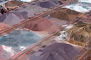 Nederland, Zuid-Holland, Rotterdam, 10-06-2015; Europoort, Dintelhaven. Ertsoverslagbedrijf Europoort C.V. (EECV). Opslag van steenkool, erts en mineralen voor de staalindustrie.<br /> <br /> Europoort, terminal for dry bulk handling, ore and coal for German Steelmaking industry.<br /> <br /> luchtfoto (toeslag op standard tarieven);<br /> aerial photo (additional fee required);<br /> copyright foto/photo Siebe Swart