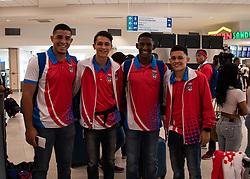 October 2, 2018 - 20181002, Aeropuerto Luis Muñoz Marín. Delegación Juvenil #PURLosNuestros.rumbo a los Juegos Olímpicos Juveniles Buenos Aires 2018. (Credit Image: © Gabriella N. Baez Reyes/El Nuevo Dias via ZUMA Press)