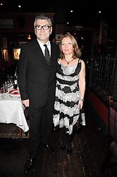 NATHALIE MARTIN and artist JACK VETTRIANO at the Johnnie Walker Blue Label great Scot Award 2010 in association with The Spectator and Boisdale held at Boisdale of Belgravia, 22 Ecclestone Street, London SW1 on 24th February 2010.