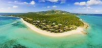 Panoramic aerial view of Lizard Island Research Station, Lizard Island, Great Barrier Reef, Queensland, Australia