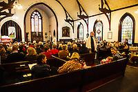 Trinity Episcopal Church in Tilton holds their final service on Sunday, February 1, 2015.  Karen Bobotas for the Laconia Daily Sun