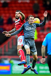 Marlon Pack of Bristol City contends for the aerial ball with Jed Wallace of Millwall - Mandatory by-line: Ryan Hiscott/JMP - 02/12/2018 - FOOTBALL - Ashton Gate Stadium - Bristol, England - Bristol City v Millwall - Sky Bet Championship