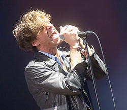 Paolo Nutini on the main stage, Saturday, T in the Park 2014.<br /> © Michael Schofield.