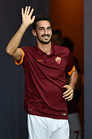 Davide Astori.<br /> Presentazione della AS Roma.<br /> Roma 19-08-2014 Stadio Olimpico. Football Calcio 2014/2015.Incontro amichevole AS Roma - Fenerbahce. Foto Antonietta Baldassarre / Insidefoto<br /> Fiorentina captain Davide Astori dies suddenly aged 31 . <br /> Astori was staying a hotel with his team-mates ahead of their game on Sunday away at Udinese when he passed away. <br /> Foto Insidefoto